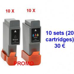10 Kits canon BCI24BK - BCI24C