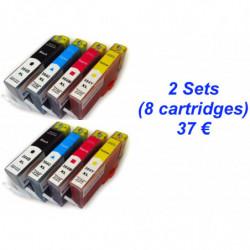 2 kit HP364 Noire XL + Cyan...
