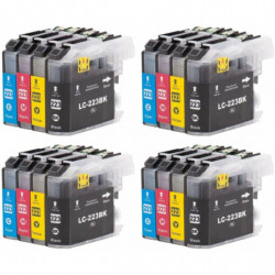 4 kits LC223XL BK / LC223XL...
